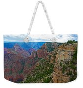 View Five From Walhalla Overlook On North Rim Of Grand Canyon-arizona Weekender Tote Bag