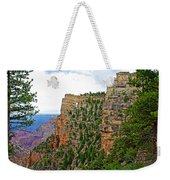 View Four From Walhalla Overlook On North Rim Of Grand Canyon-arizona Weekender Tote Bag