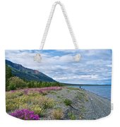 View Four Kluane Lake From Cottonwood Campground Near Destruction Bay-yk Weekender Tote Bag