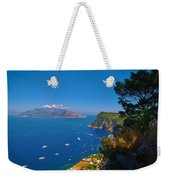 View From Capri Weekender Tote Bag