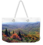 View From Devil's Courthouse Mountain Weekender Tote Bag