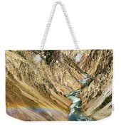 View From Lower Falls Of The Yellowstone River  Weekender Tote Bag
