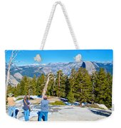 View From Near The Top Of Sentinel Dome In Yosemite Np-ca Weekender Tote Bag