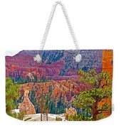 View From Queen's Garden Trail In Bryce Canyon National Park-utah Weekender Tote Bag