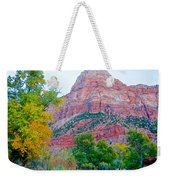 View From South Campground In Zion Np-ut Weekender Tote Bag
