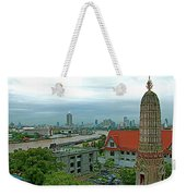 View From Temple Of The Dawn-wat Arun In Bangkok-thailand Weekender Tote Bag