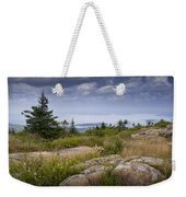 View From Top Of Cadilac Mountain In Acadia National Park Weekender Tote Bag