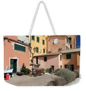 view in Sori Italy Weekender Tote Bag