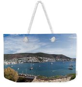View Of A Harbor From A Castle, St Weekender Tote Bag