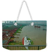 View Of A Ship On Its Side From A Bridge Near Bangkok-thailand Weekender Tote Bag