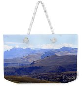 View Of Absaroka Mountains From Mount Washburn In Yellowstone National Park Weekender Tote Bag