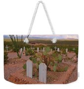 View Of Arizona From Boothill Cemetery Weekender Tote Bag