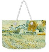 View Of Asylum And Saint-remy Chapel Weekender Tote Bag by Vincent van Gogh