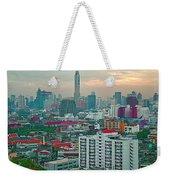View Of Bangkok Near Dusk From Grand China Princess Hotel In Bangkok-thailand Weekender Tote Bag