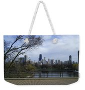 View Of Chicago Weekender Tote Bag