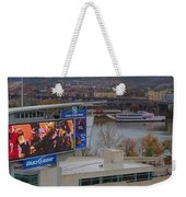 View Of Cincinnati Weekender Tote Bag by Dan Sproul