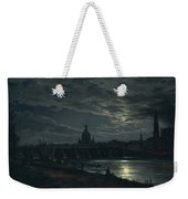 View Of Dresden By Moonlight Weekender Tote Bag