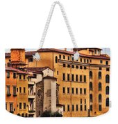 View Of Florence Along The Arno River Weekender Tote Bag