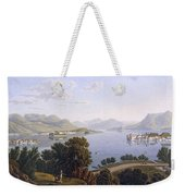 View Of Lake Maggiore And The Borromean Weekender Tote Bag