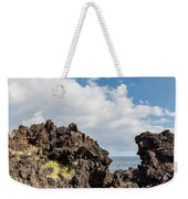 View Of Lava Rock On The Coast, Pico Weekender Tote Bag