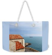 View Of Mediterranean In Antibes France Weekender Tote Bag