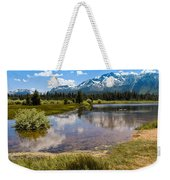 View Of Mount Tallac From Taylor Creek Beach Lake Tahoe Weekender Tote Bag