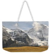 View Of Mt Eiger And Mt Monch, Kleine Weekender Tote Bag