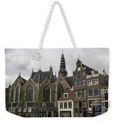 View Of Oude Kerk Amsterdam Weekender Tote Bag