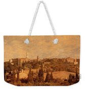 View Of Pienza And The Tuscan Landscape Weekender Tote Bag
