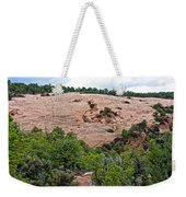 View Of Rock Dome Surface From Sandal Trail Across The Canyon In Navajo National Monument-arizona Weekender Tote Bag