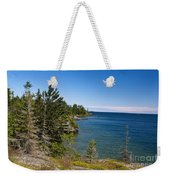 View Of Rock Harbor And Lake Superior Isle Royale National Park Weekender Tote Bag by Jason O Watson
