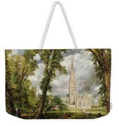 View Of Salisbury Cathedral From The Bishop's Grounds Weekender Tote Bag