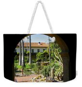 View Of Santa Barbara Mission Courtyard Weekender Tote Bag