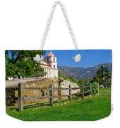 View Of Santa Barbara Mission Weekender Tote Bag