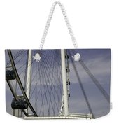 View Of Spokes Of The Singapore Flyer Along With The Base Section Weekender Tote Bag