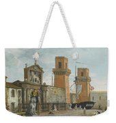 View Of The Arsenale. Venice Weekender Tote Bag