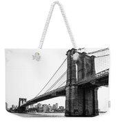 View Of The Brooklin Bridge Weekender Tote Bag