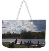 View Of The Creek From Catskill Point Weekender Tote Bag