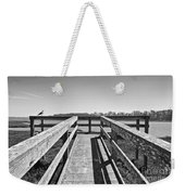 View Of The Elkhorn Slough From A Platform.  Weekender Tote Bag