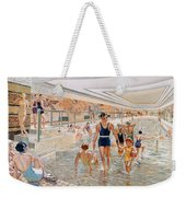 View Of The First Class Swimming Pool Weekender Tote Bag