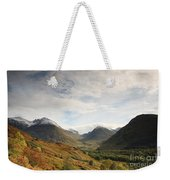 View Of The Glencoe Mountains Weekender Tote Bag