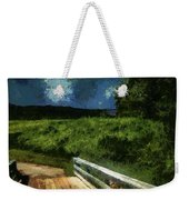 View Of The Night Sky From The Old Bridge Weekender Tote Bag
