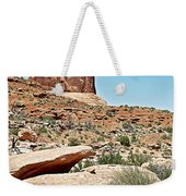 View Of Three Gossips In Arches Np-ut  Weekender Tote Bag