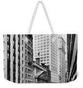 View Of Wall Street Weekender Tote Bag