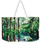 View Of Woodside Lake Weekender Tote Bag
