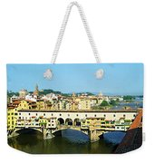 View On Ponte Vecchio From Uffizi Gallery Weekender Tote Bag