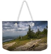 View On Top Of Cadilac Mountain In Acadia National Park Weekender Tote Bag