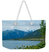 View One Kluane Lake From Cottonwood Campground Near Destruction Bay-yk   Weekender Tote Bag