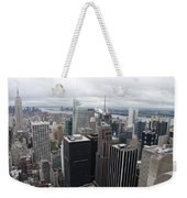 View Over Manhattan  Weekender Tote Bag