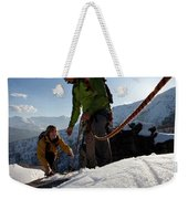 View Past Rope To Climbers Helping Team Weekender Tote Bag